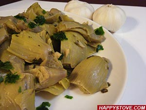 Artichoke Hearts Stir-Fry with Italian Parsley - By happystove.com