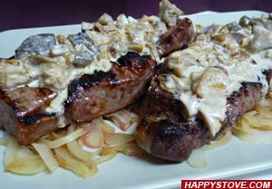 Beef Steaks with Porcini Mushroom Sauce - By happystove.com