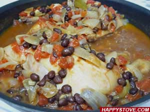 Spicy Chicken in Black Beans Sauce - By happystove.com