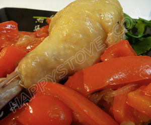 Chicken Legs With Red Bell Peppers