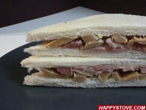 Ham and Mushrooms Tramezzini
