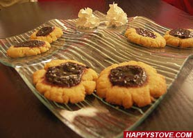 Jam dotted Shortbread cookies - By happystove.com