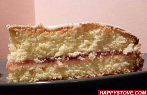 Lemon Glazed Strawberry Cake - By happystove.com