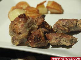 Spiced Mustard Pork Loin Bites - By happystove.com