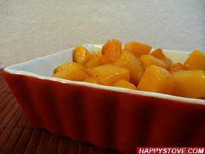 Pumpkin Dadolata (Stir Fried Diced Pumpkin)