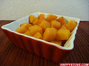 Pumpkin Dadolata (Stir Fried Diced Pumpkin) - By happystove.com