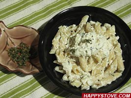 Herbs, Pine Nuts and Ricotta Cheese Penne