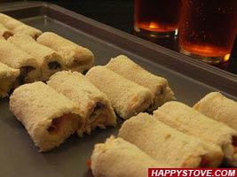 Nutella and Hazelnuts Tramezzini Rolls