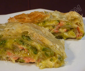 Smoked Salmon and Zucchini Puff Pastry Roll