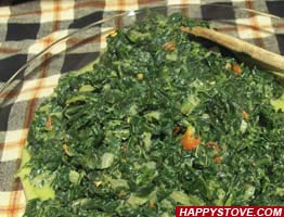 Spiced Spinach - By happystove.com