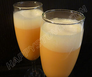 Tangerine Sgroppino Cocktail - By happystove.com