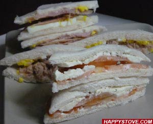 Turkey Ham and Sweet Red Peppers Tramezzini