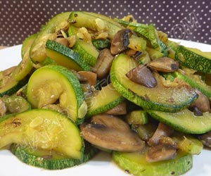 Saute of Zucchini and Mushrooms