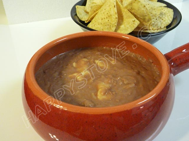 Quick Refried Pinto Beans - By happystove.com