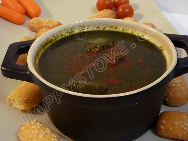 Cream of Spinach Soup with Paprika - By happystove.com